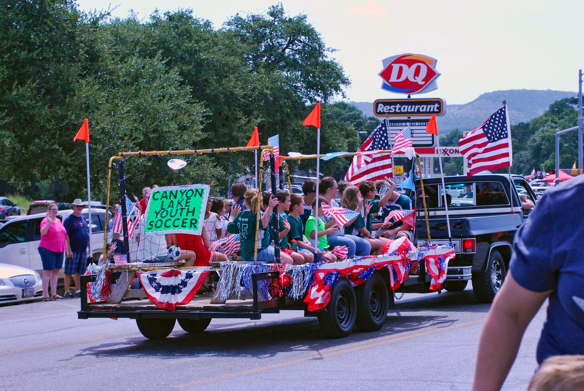 fourth of july float
