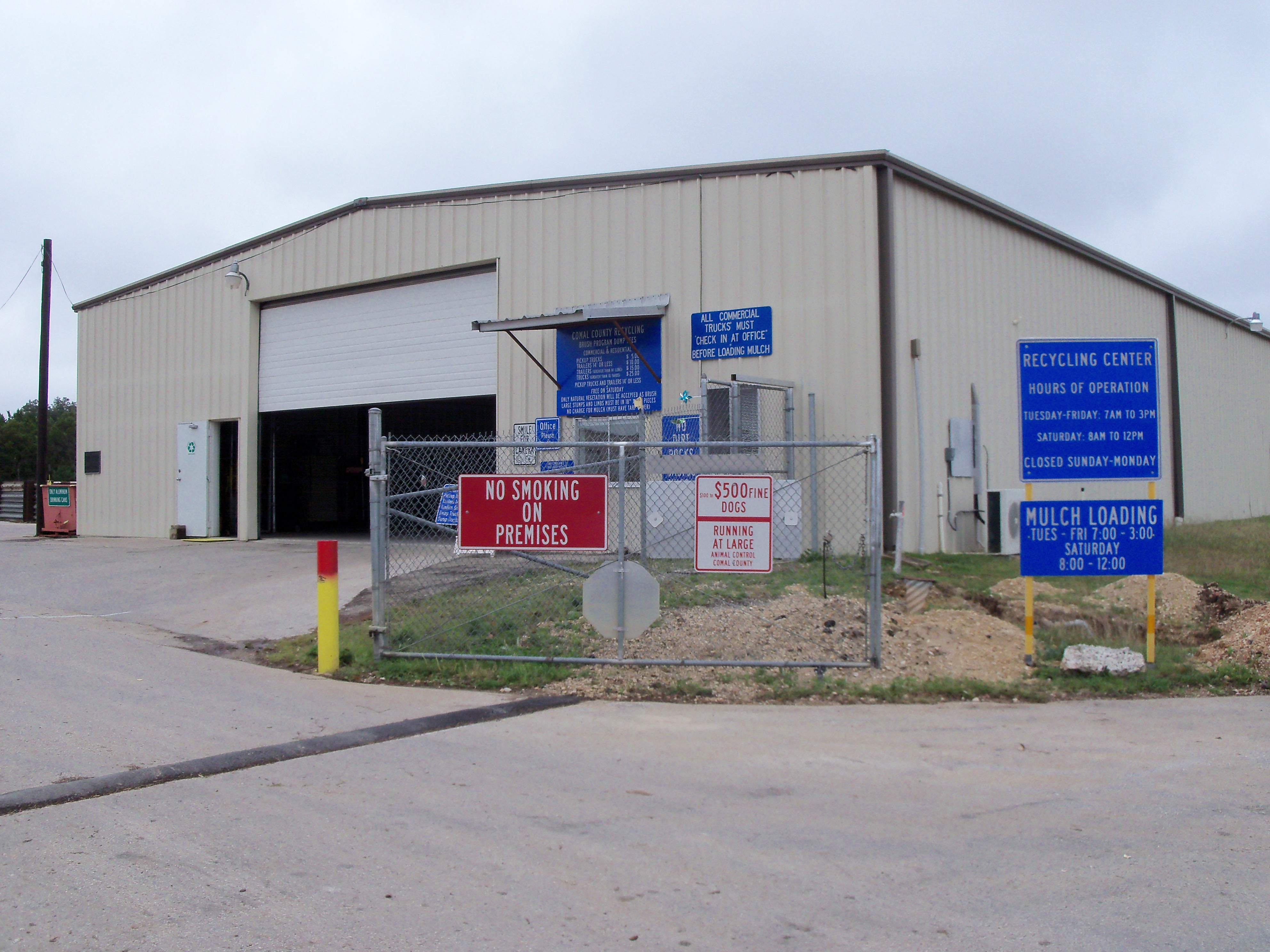 Comal County's recycling center