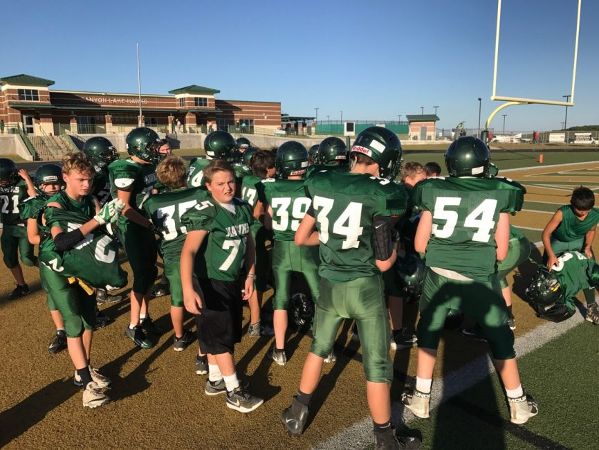 Mountain Valley Middle School football players