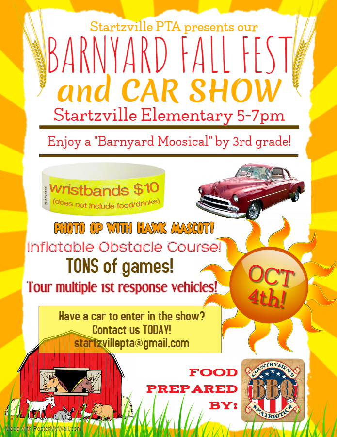 Startzville Elemetary Barnyard Fall Fest and Car Show