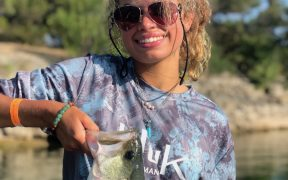 Bass fisherwoman Abigal Spence