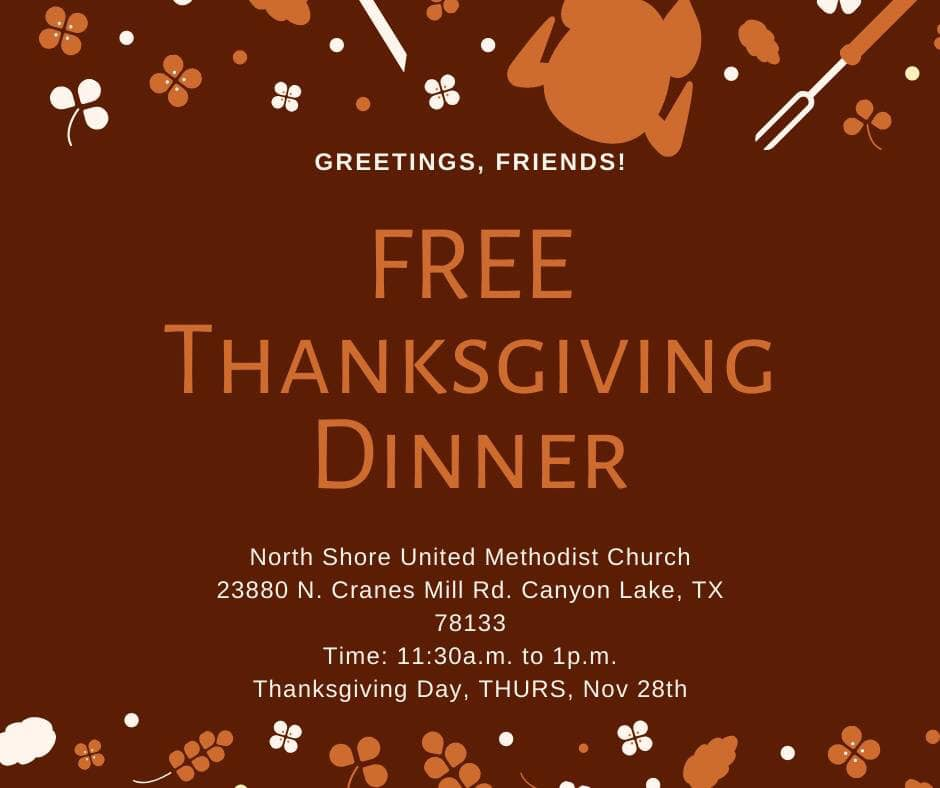 Northshore United Methodist Free Thanksgiving Dinner