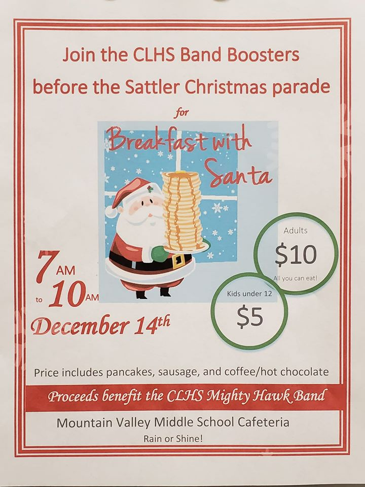 CLHS Band Boosters Breakfast with Santa
