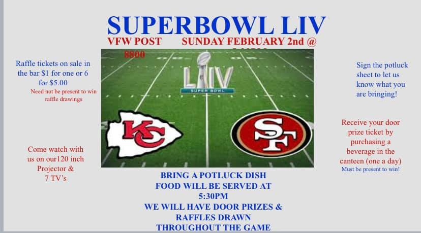 Super Bowl LIV Party at Startz VFW